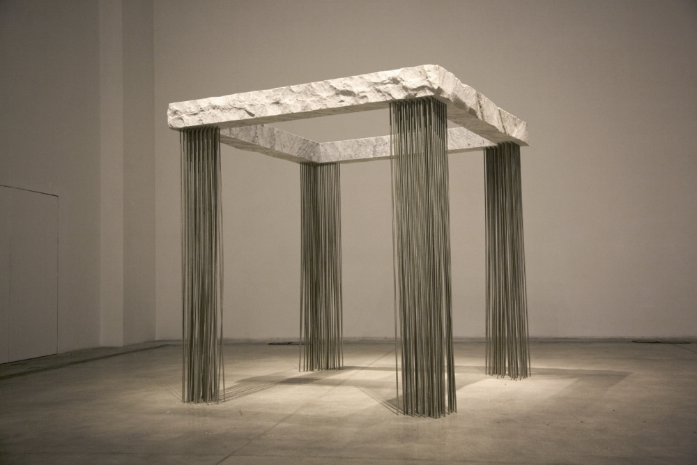Epicarmo, 2012, marble and steel, 230 x 230 x 230 cm.IMG_0638 copia